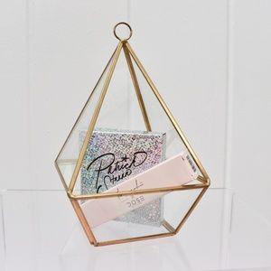Glass Pyramid Display Ring & Jewelry Organizer